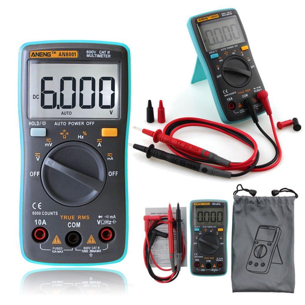 ANENG AN8000 AN8001 AN8002 AN8004 Auto Backlight Multímetro Digital AC/DC Transformar Prueba Del Amperímetro Resistencia Capacitancia Ohm T10