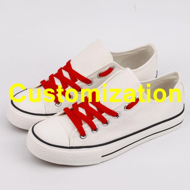 Hot Sale Men Canvas Shoes Customziation Print Designer Adults Team Shoes Graffiti Casual Shoes Espadrilles Gift Tenis Masculinos