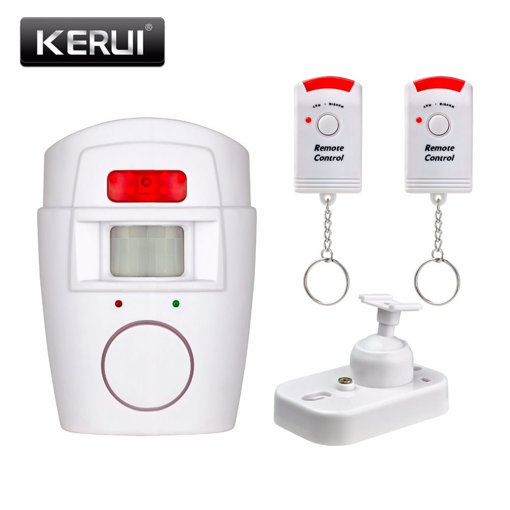 Seguridad para el hogar PIR MP Alerta Anti-robo de Alarma Del Detector de Movimiento Del Sensor de Infrarrojos Monitor de sistema de Alarma Inalámbrico + 2 remoto controlador