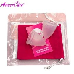 Coletor Menstrual 2 piezas silicona de grado médico higiene Menstrual copas señora Menstrual Copa Mestrual Aneercare Coupe Menstruell S + L
