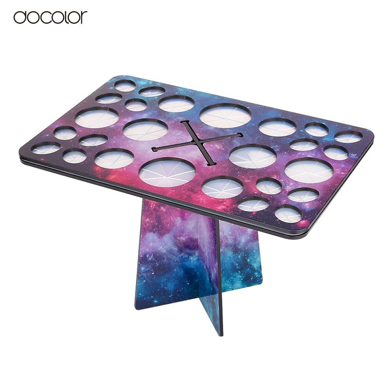 Docolor New Stars Makeup Brushes Holder Collapsible Drying Make Up Brush Stand Cosmetic Tool