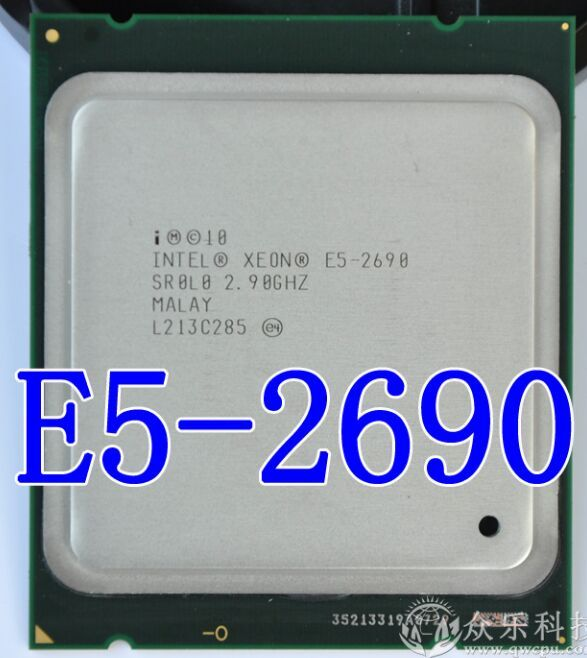 original Intel Xeon Processor E5-2690 E5 2690 Eight Core 2.9G SROL0 C2 LGA2011 CPU 100% working properly Desktop Processor