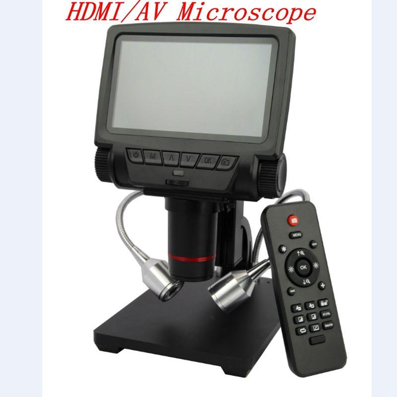 Andonstar Digital HDMI/AV Microscope Long Object Distance USB Microscope for Mobile Phone PCB Repair Soldering Magnifier Camera