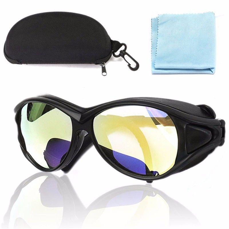Nueva Llegada PC 150mm CO2 10.6um Láser Gafas de Protección Gafas de Doble Capa Profesional 7 OD Para Láser