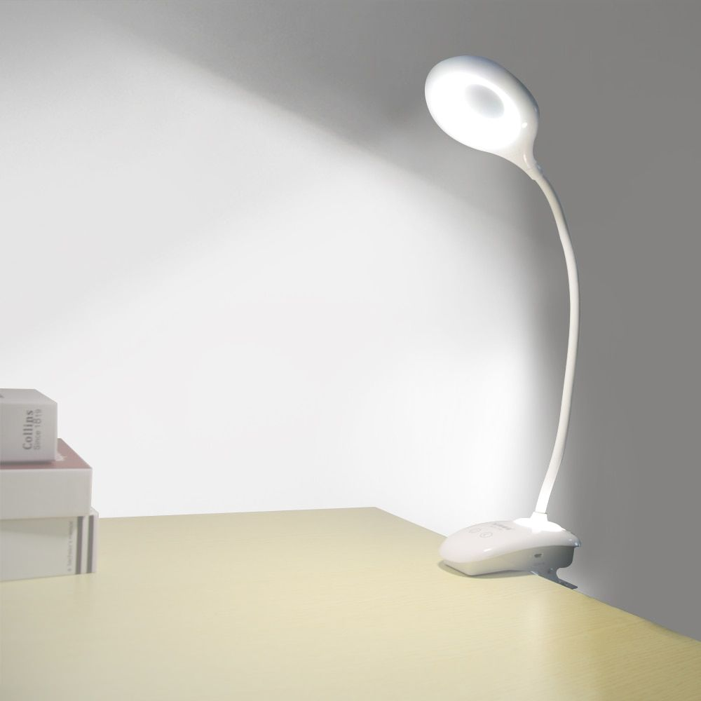 Gooseneck LED Desk Lamp Modern Touch Switch Dimmer Rechargeable 18650 Battery Bedside Room Study Lamp Night Light Table Lamps