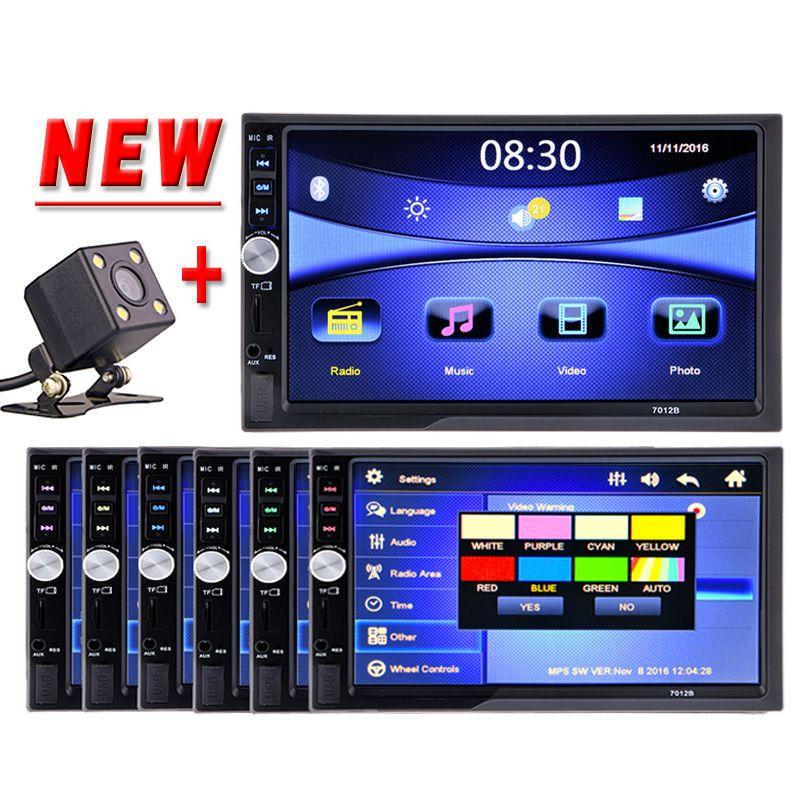 HOT 2 Din Car Multimedia Player HD Bluetooth Stereo Radio FM MP4 MP5 Audio Video USB AUX Auto Electronics In Dash 2din Autoradio