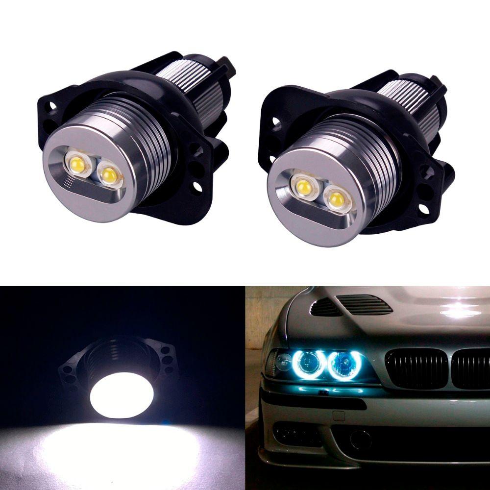 2pcs Ultra Bright 7000K White LED 6W Angel Eye Halo Rim Bulb For BMW E90 E91 3 Series 325i 328i 335i 2006-2008 Light Car Tuning