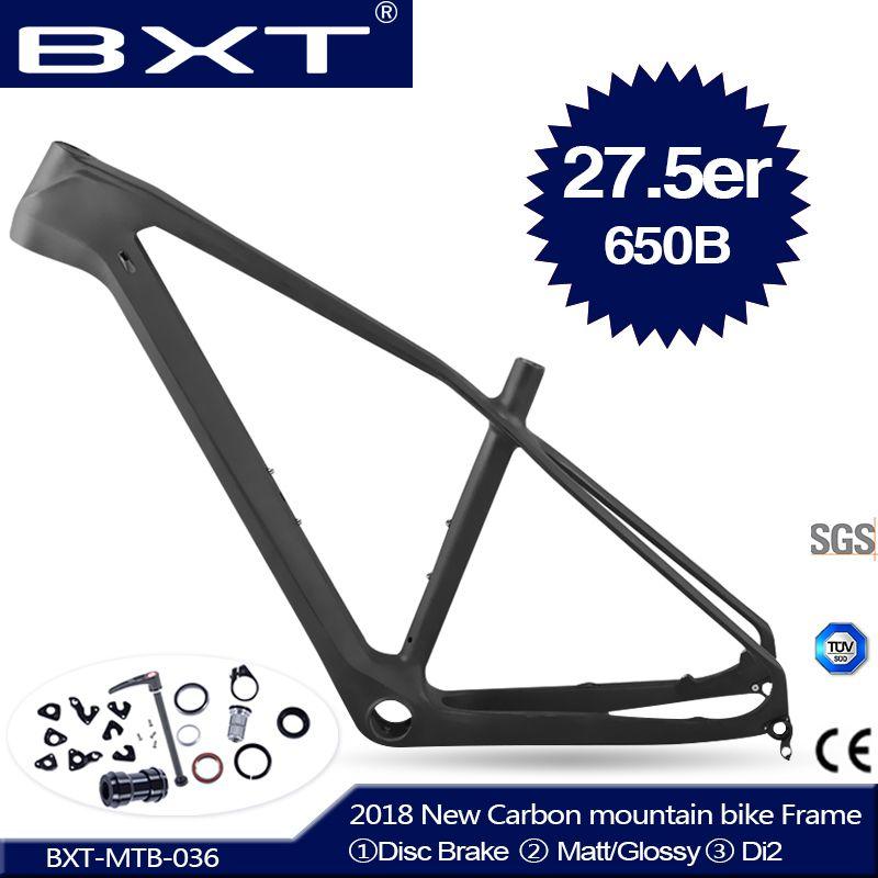 2018 NEUE BXT vollcarbon mtb rahmen 27.5er kader carbone t800 carbon mtb rahmen 27,5 super leichte fahrradrahmen