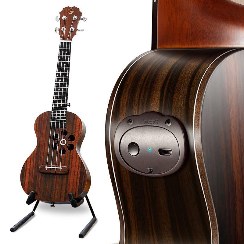 Populele S1 Acoustique Électrique Smart guitare ukulélé Concert Soprano 23 Pouces 4 Cordes Bluetooth Ukulele Accessoires pour Les Débutants