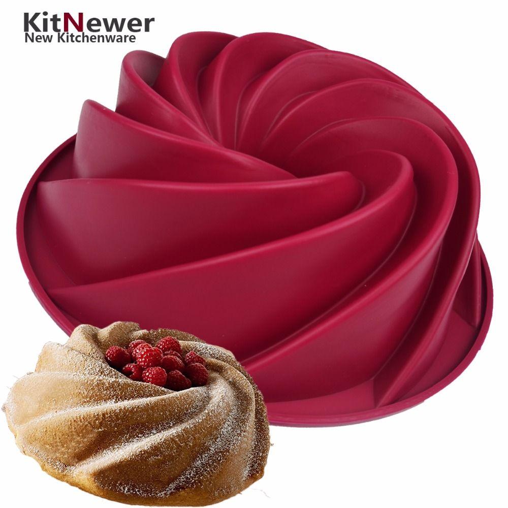WALFOS silicone gâteau moule pan 24.5*8.9 cm Big Remous Forme Silicone Beurre Gâteau Moule Cuisine Cuisson Outils Pour gâteau Ustensiles de Cuisson Moule