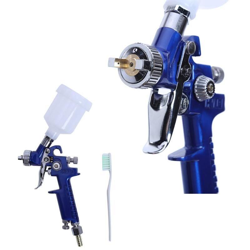 Professionnel 0.8 MM/1.0 MM buse H-2000 Mini Air peinture pistolet aérographe HVLP pistolet de pulvérisation pour peinture voiture aérographe