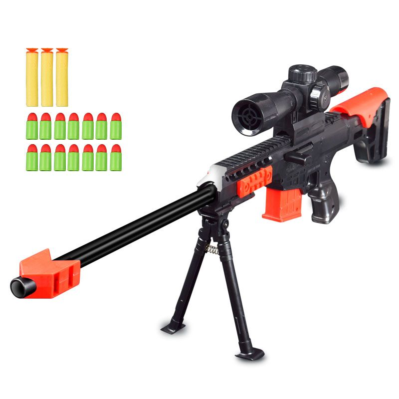 Soft Bullet Gun Sniper Rifle Airsoft Air Guns Plastic Blaster Military Toys Model For Gifts Children Outdoor Game Toy