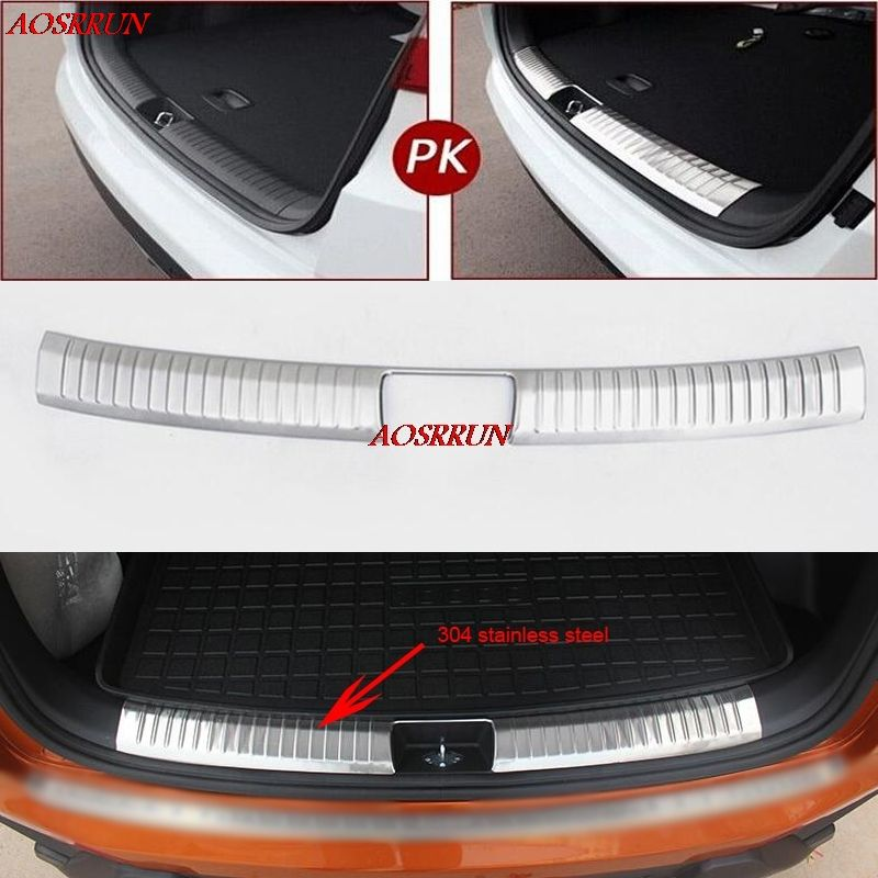 car-styling Stainless Steel Inner Rear Bumper Protector Sill Car Accessories Trunk cover For Hyundai Creta ix25 2015 2016 2017