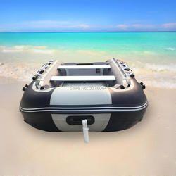 'GTS330 Goethe aluminium Lantai dan PVC tiup fishing rafting boat pvc perahu karet
