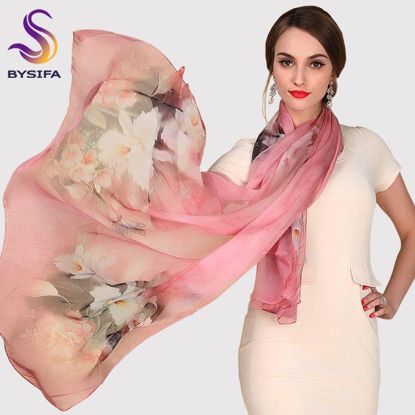 Foulard en soie mûrier foulard en soie Long Design qualité femme printemps et automne écharpe all-match mode femmes Satin rose châle