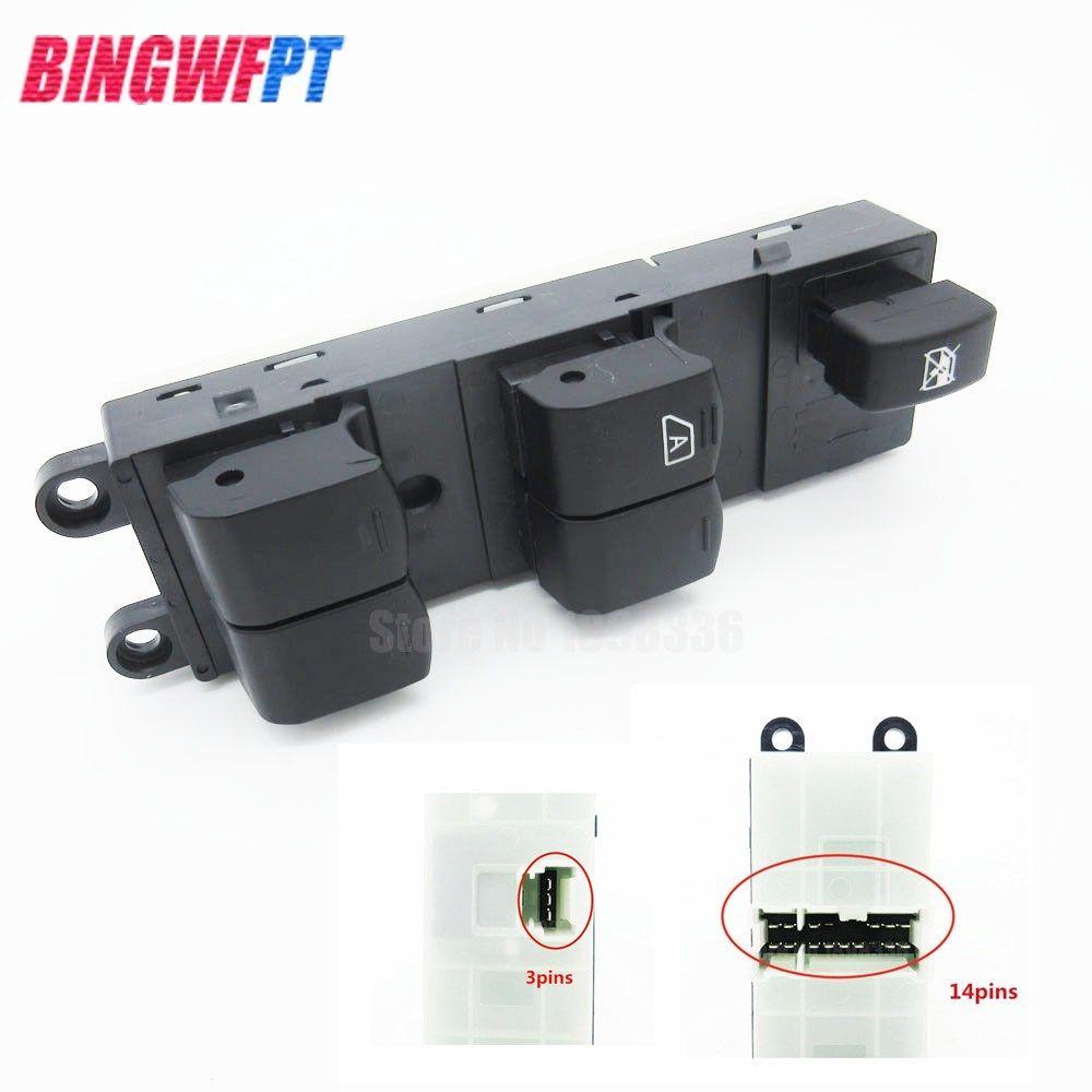 For Nissan Qashqai J10 2.0 dCi 4WD Navara D40 Vehicles Master Electric Power Window Lifter Switch 04-16 25401-BR00B 25401-JD001