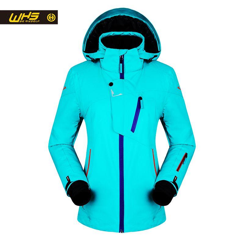 WHS Neue Frauen ski Jacken winter Outdoor Warme Schnee Jacke mantel weibliche wasserdichte schnee jacke damen atmungsaktive sport kleidung
