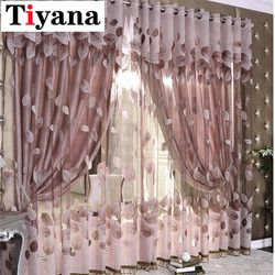Luxury Modern Leaves Designer Curtain Tulle Window Sheer Curtain For Living Room Bedroom Kitchen Window Screening Panel P347X