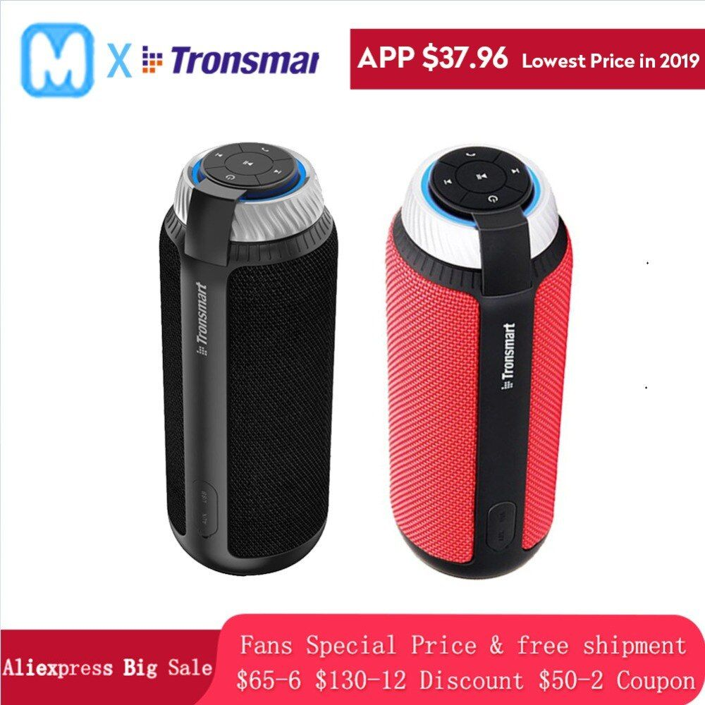 Tronsmart T6 Speaker VSJBLCHARGE 3 Portable wireless Bluetooth Speaker MINI Column Soundbar Audio Receiver AUX big power