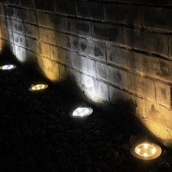 Wonlukiy 1 piezas 4 LEDs luz Solar al aire libre tierra IP65 resistente al agua jardín paisaje iluminación patio Lawn Pathway noche lámpara