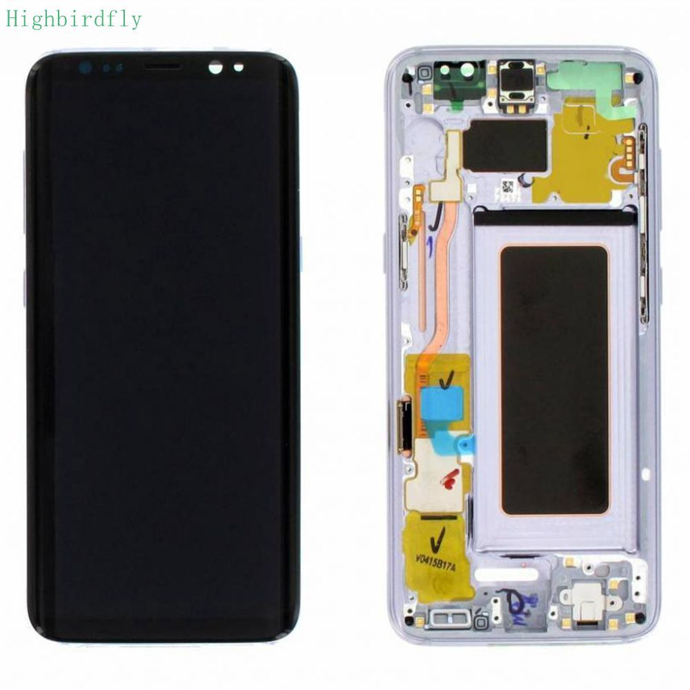 Highbirdfly For Samsung Galaxy s8 g950f/ s8 plus g955F G955 Lcd Screen Display+Touch Glass DIgitizer Frame Assembly Amoled