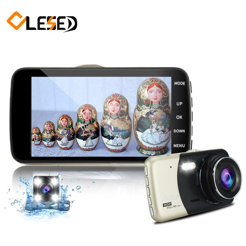 dual lens IPS vehicle car dvr auto camcorder camera cars dvrs carcam dash cam full hd 1080p parking recorder video registrator