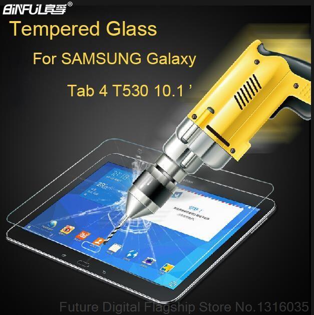 BINFUL Prime 9 H 0.3mm En Verre Trempé pour Samsung Galaxy Tab 4 10.1 T530 T531 T535 Transparent Protecteur D'écran Film Clair outil