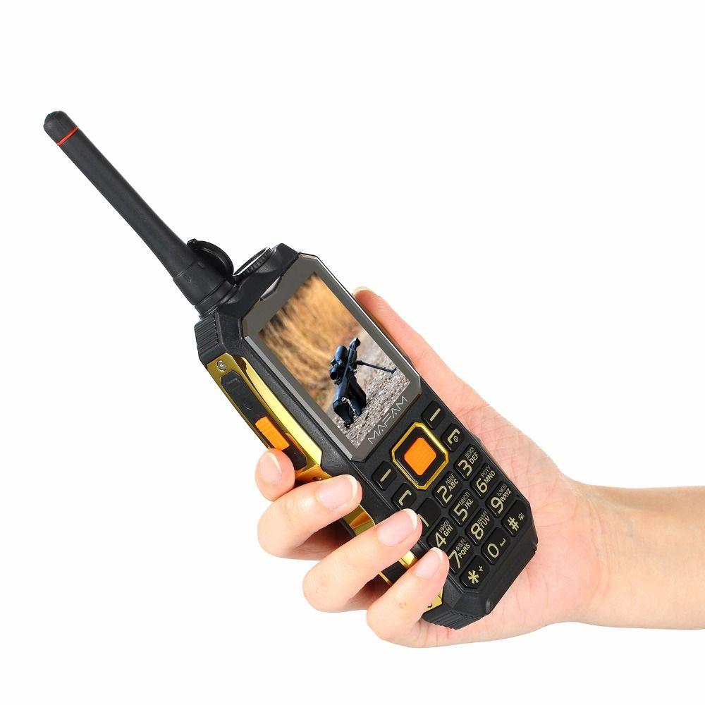 MAFAM M2 Russian Arabic 4000mAh Dual SIM Cards UHF Walkie Talkie Tachograph wireless FM rugged Mobile Power Bank Phone P156