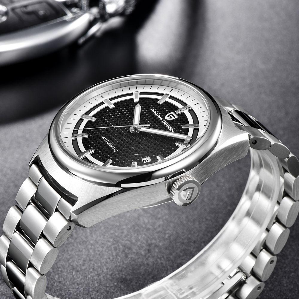 Herren Uhren Top Brand Luxus PAGANI DESIGN Neue Mechanische Automatische Mode-Business Männer Edelstahl Uhr Erkek kol saati