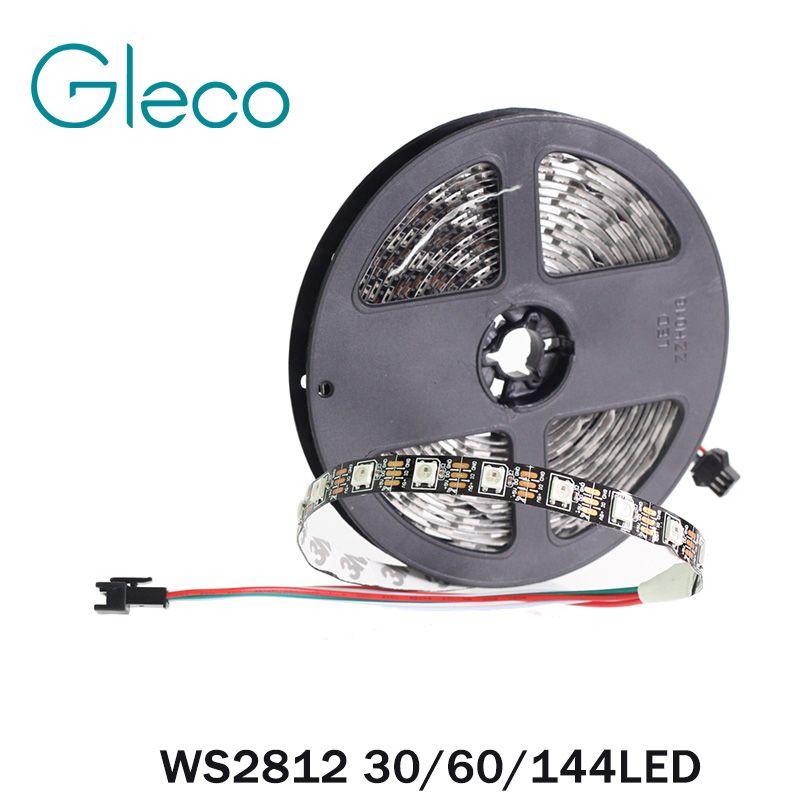 DC5V WS2812 Pixel Digital LED Strip 5050 RGB 30/60/144LED WS2812B LED Pixel Strip Light IP30 IP65 IP67 Waterproof