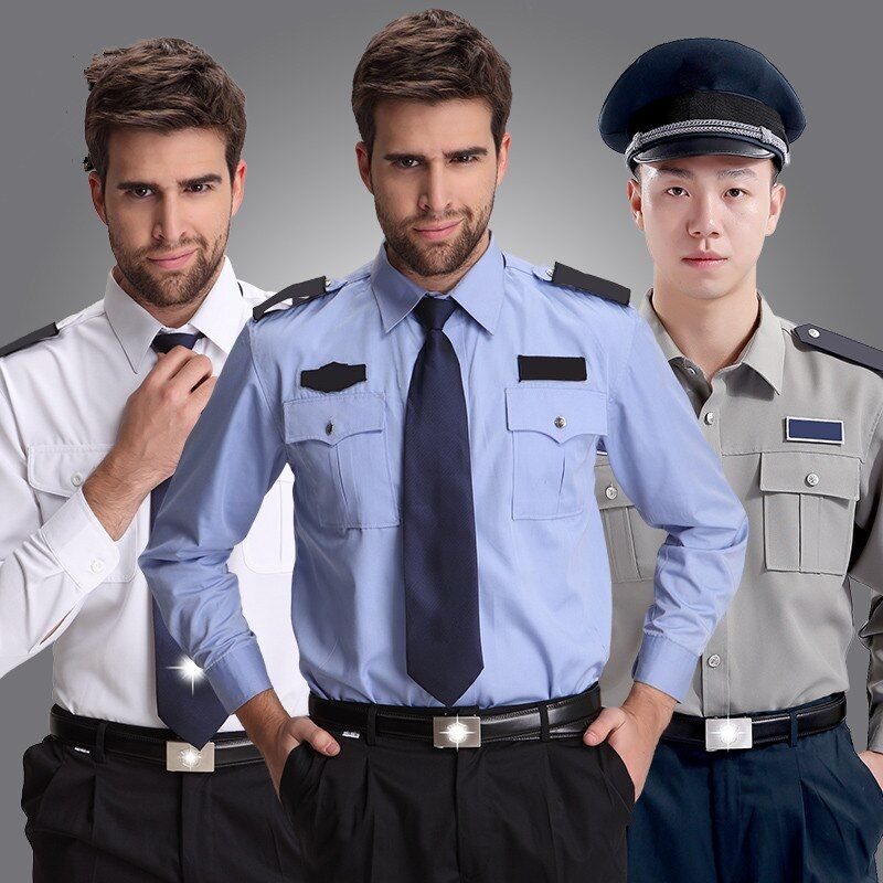 Porteros de seguridad personal ropa de trabajo para hombre blanco de manga larga uniformes de trabajo uniforme uk masculino con estilo chaquetas de regalos envío gratis