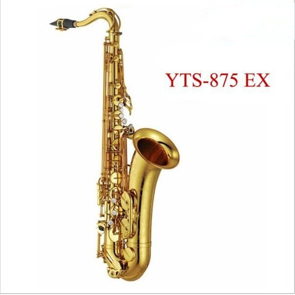 Professional Tenor saxophone New YTS 875EX B flat Lacquer gold brass sax High Quality playing professionally classical music box