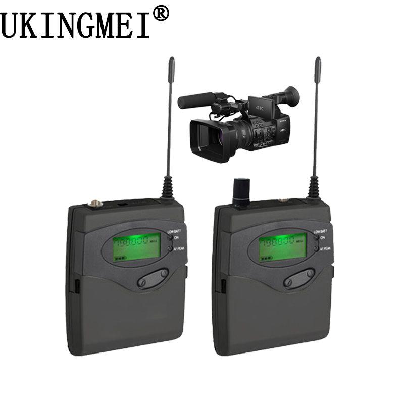 DSLR Kamera Wireless Lavalier-mikrofon Revers Mikrofon System für Outdoor Aufnahme, Interview, Videoaufnahmen, Broadcast Mikrofon