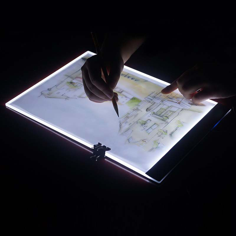 Ultra Thin A4 LED Light Stencil Touch Board, Light <font><b>Tablet</b></font> Pad Apply to EU/UK/AU/US/USB Plug Diamond Painting Cross Stitch