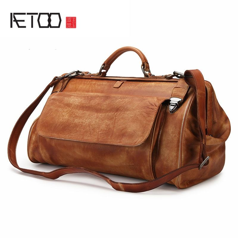 AETOO Retro crazy horse tasche reisetasche business mann große kapazität männer hand