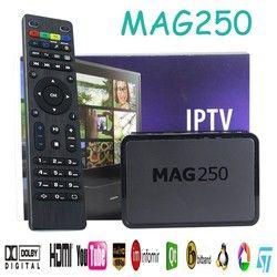 IPTV BOÎTE, MAG 250 Dernières IPTV/OTT Boîte-Rapide Processeur, plus rapide que MAG 254-Avec Wi-Fi Dongle Avec USB WIFI