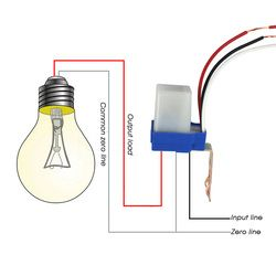 kebidumei Hot Photocell Street Light Photoswitch Sensor AC DC 220V 10A Auto On Off Sensor Switch White and Blue