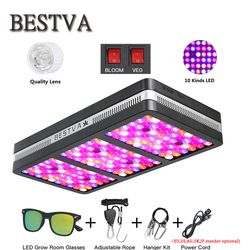 BestVA LED grow light Elite600W 1200W 2000W Full Spectrum for Indoor Greenhouse grow tent reflector Double Switch lamp for plant