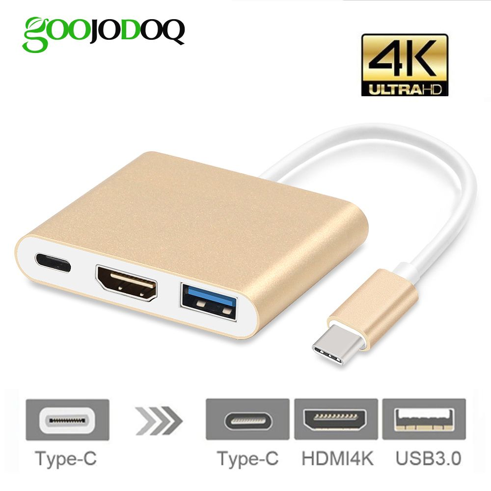 USB C HUB HDMI Adapter USB 3.1 Type C Hub to Hdmi 4K USB 3.0 Port With USB-C Power Delivery For Macbook Pro Thunderbolt 3