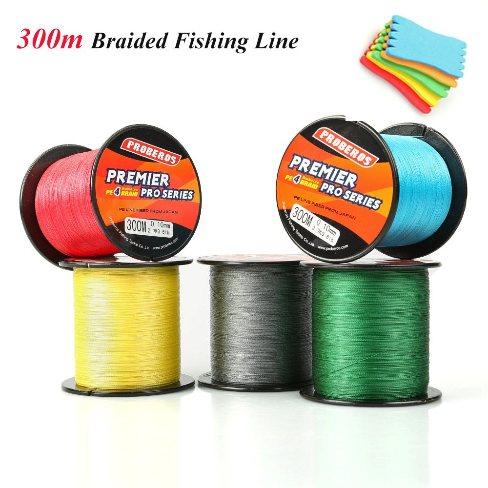 DONQL Brand 300M PE Braided Fishing Line 4 stands 6LB 8LB 10LB 20LB 60LB 80LB Multifilament fluorocarbon Strong Fishing Lines