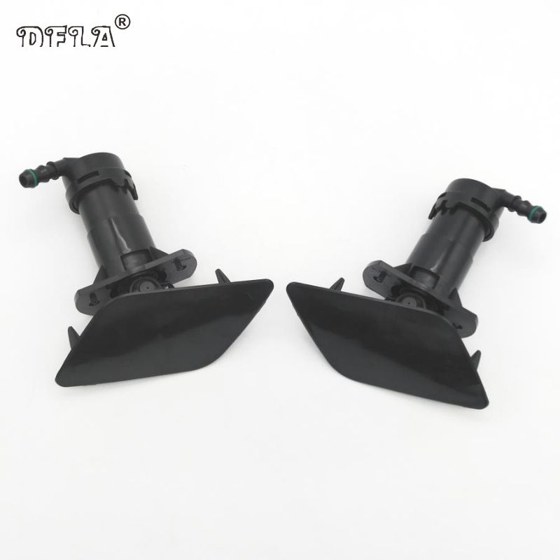 2pcs For Audi A6 C6 Quattro 2004 2005 2006 2007 2008 Front Bumper Headlight Washer Lift Cylinder Spray Nozzle And Cover Cap