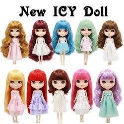 Tubuh Normal Lucu Es Dapat Memilih Gaya Rambut dan Tubuh Cocok DIY Hadiah untuk Anak Perempuan Seperti Neo Blyth boneka Boneka 1/6 Tinggi 30 Cm