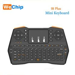 I8 PLUS Keyboard Nirkabel 2.4G Hz Rusia atau Bahasa Inggris Keys Air Mouse Remote Control Touchpad untuk Android TV Box Notebook tablet PC