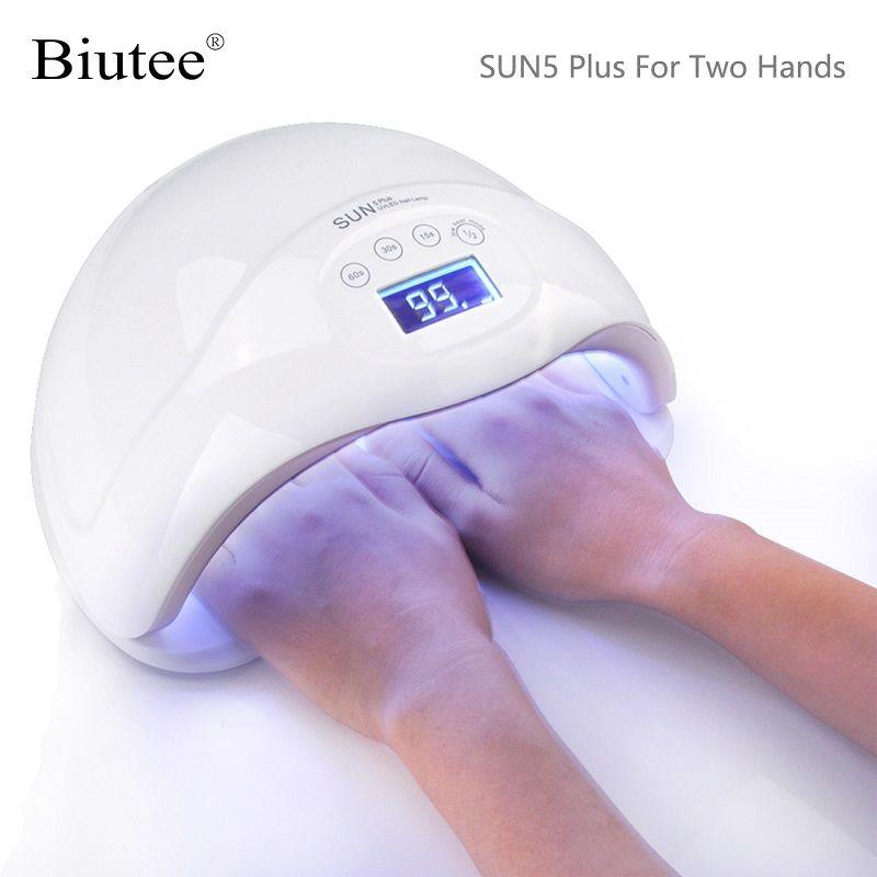 Biutee 48 Вт сушилка для ногтей  SUN 5 плюс led лампа для ногтей уф лампа для гель лака с ЖК-дисплеем таймер дисплей сенсорный маникюрный инструмент