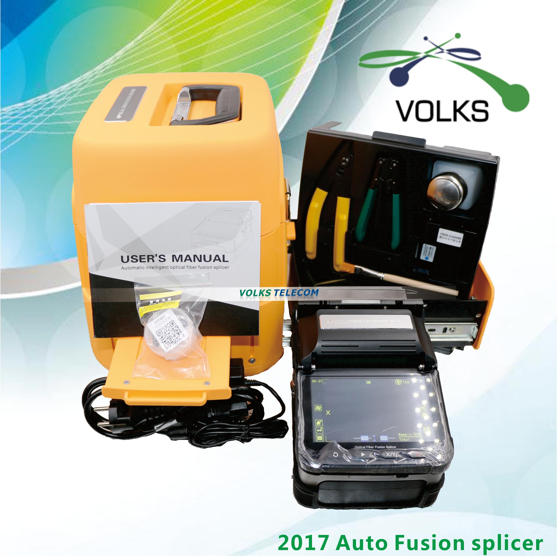 Fusion De Fiber optique colleuse Machine SM et MM VOLKSTEC 6 Moteurs Épissage Machine
