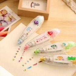 1 Pc Korea Kawaii Hewan Jenis Tekan Dekoratif Pita Koreksi Koreksi Cairan Diary Kantor Alat Tulis Sekolah Pasokan