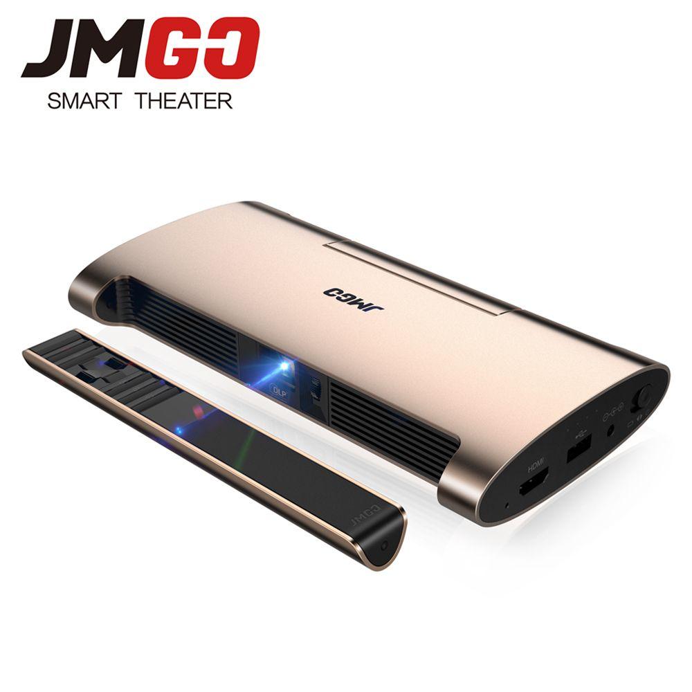 JMGO Tragbare Android 7.0 Projektor M6. 200 ANSI Lumen, unterstützung 4 karat, 1080 P Decode. Set in WIFI, Bluetooth, HDMI, USB, Laser Stift
