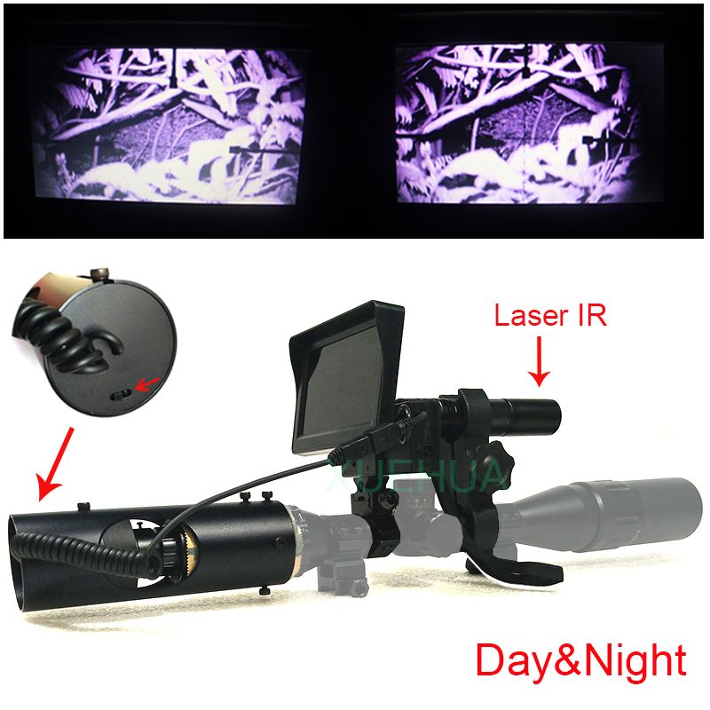Optique de chasse en plein air monoculaire tactique Laser numérique infrarouge vision nocturne télescope jumelles avec IR pour la vue
