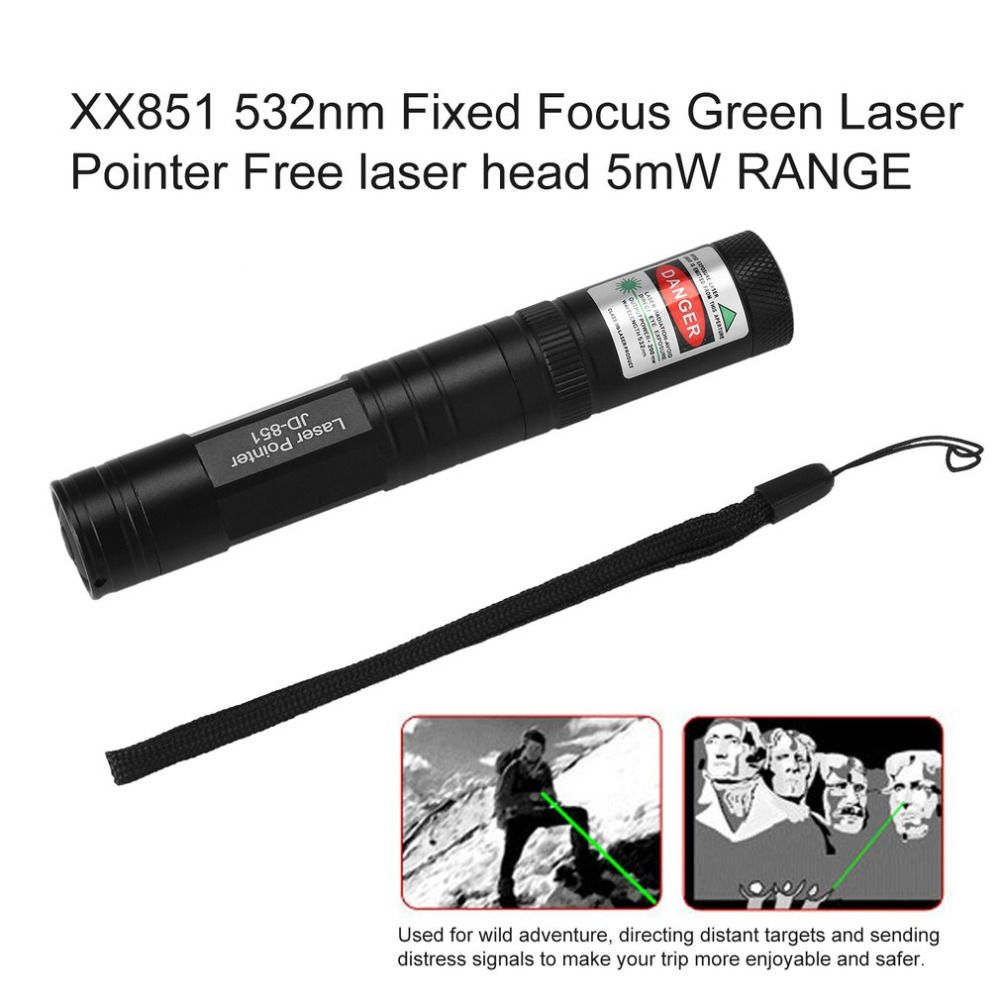 JD851 532nm фиксированный фокус зеленая лазерная указка для Бесплатная лазерная головка 5 МВт диапазон Hotsale Перевозка груза падения