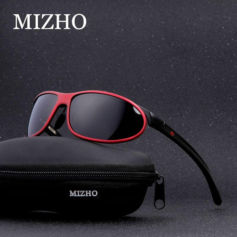 MIZHO Anti-éblouissement clair pilotes voiture neige lunettes de soleil femme Polaroid UV400 nuit dames lunettes de soleil hommes polarisé Aluminium Wrap
